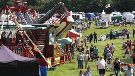 Visitors enjoy the Woolpit Steam Rally. Picture: RICHARD MARSHAM/RMG PHOTOGRAPHY