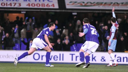 Michael Chopra scores in the game that started it all for Oliver Photo: GREGG BROWN