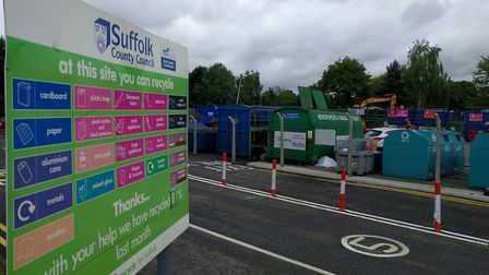 Recycling centres across Suffolk have all been closed. Picture: Suffolk County Council