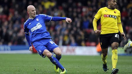 Richard Chaplow scores the late winner at Watford Picture: PAGEPIX