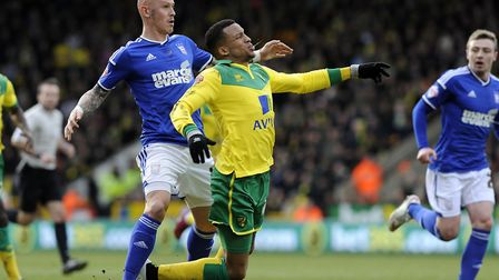 Chaplow made his first Ipswich Town start against Norwich at Carrow Road. Picture: PAGEPIX