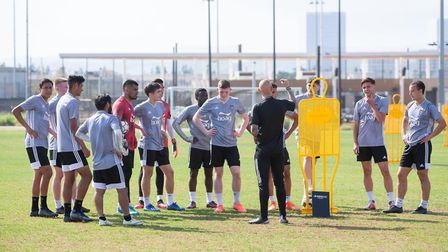Richard Chaplow, pictured putting the Orange County players through their paces. Picture: RichardCha
