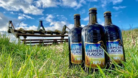 Farmers' Flagon, which has been specially made by St Peter's brewery to celebrate the centenary of t
