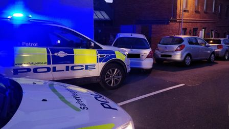 The driver was arrested and taken into custody Picture: SUFFOLK CONSTABULARY