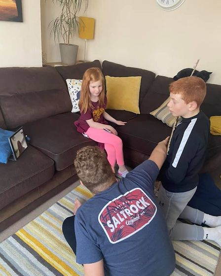 Emma's family have all got into schooling the children - even the grandparents have got involved via