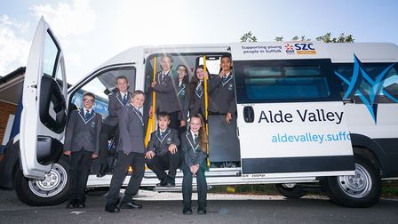 Sizewell C donates a minibus to Alde Valley Academy so students in rural locations can get to school