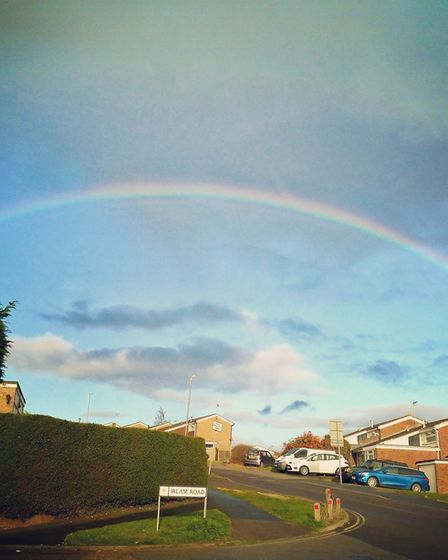 A rainbow over Chantry Picture: RACHEL COOKE