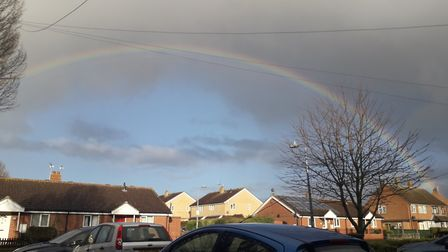 A rainbow over Ipswich Picture: LISA GLEED