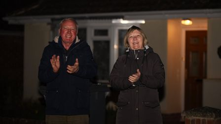 The people of Deben Avenue in Martlesham showed their support by clapping for the carers and NHS Pi