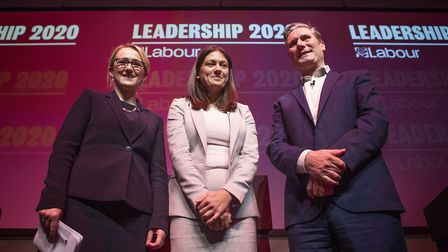 File photo ot the Labour leadership candidates Rebecca Long-Bailey, Lisa Nandy and Sir Keir Starmer