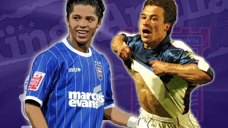 Giovani dos Santos and Martijn Reuser both had memorable loan spells at Ipswich Town. Picture: ARCHA