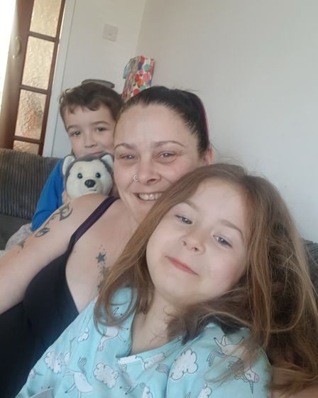 Ipswich mum Tracy Noble with her children Zak, eight, and Tayla, six, who have both got additional n