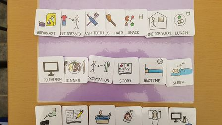This is the visual timetable Tracy Noble has been using at home Picture: TRACY NOBLE