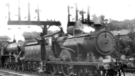"""Claud Hamilton locomotives operated on the line for almost 60 years. This one is piloting an LNER """"S"""