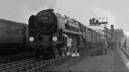 Britannia was the first in a new class of locomotives introduced on East Anglian lines in 1951. Pict