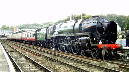Britannia is now preserved and paid a return visit to the route in 2012. Its sister locomotive (whic