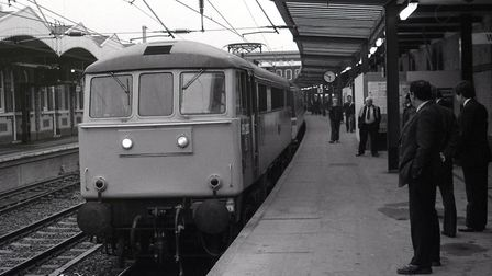 First electric train service from Ipswich, hauled by a Class 86 in May 1985. Picture: ARCHANT FILES