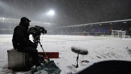 Portman Road was covered in snow back in December 2010. Picture: ARCHANT