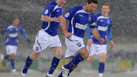 David Norris goal celebratres his goal against Leicester in the snow back in 2010.