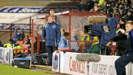 Paul Jewell pictured during the first half at Barnsley in December 2011