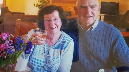 Christiane and John Hewitson have been reunited with John's lost wedding ring, 20 years after it wen