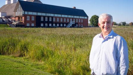 Roger Wright, chief executive of Snape Maltings. outside the famed concerert hall. Photo: Matt Jolly