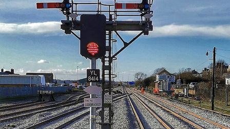 New light signals have replace traditional sempahores on the Lowestoft to Norwich line. Picture: NET