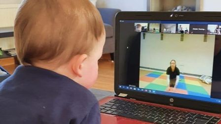A baby enjoying Suffolk Babies' online offering Picture: RUTH LEACH