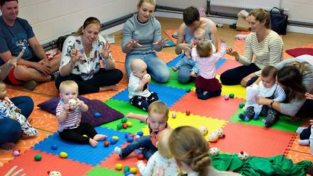 One of Suffolk Babies classes before the coronavirus crisis Picture: RUTH LEACH