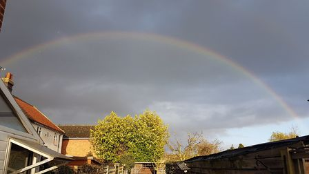 A rainbow over Ipswich on Monday, March 30 Picture: PAUL GEATER