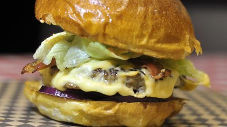 Burgers from The Filling Station in Debenham Picture: SARAH LUCY BROWN