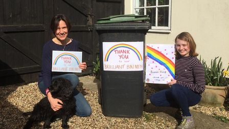 Sarah Payne and her daughter Bethany came up with the idea to tahnk rubbish collectors Picture: SARA