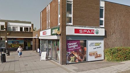 A man attempted to rob the Spar store in St Olaves Precinct, Bury St Edmunds. Picture: GOOGLE MAPS