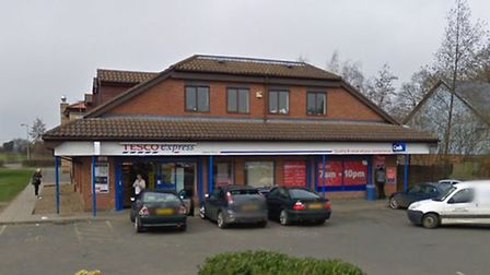 The Tesco Express store in Lawson Place was robbed. Picture: GOOGLE MAPS