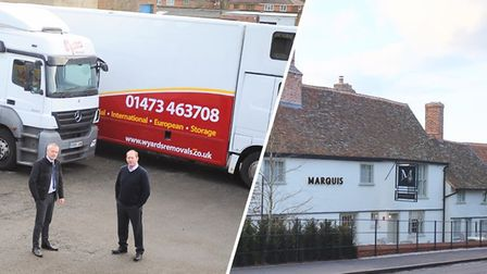 Businesses across Suffolk, including Wyards Removals and The Marquis restaurant are are helping thos