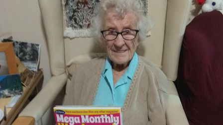Olive Wilson loves the challenge of wordsearches Picture: SMYTH HOUSE