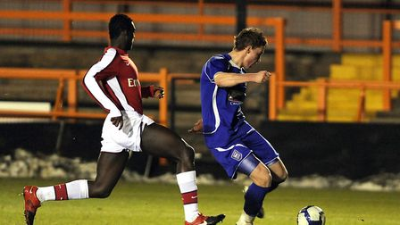 Connor Wickham fires home in style during Ipswich Town under-18s' FA Youth Cup win over Arsenal Unde