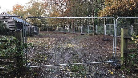 The fenced off Melton bowling green Picture: CONTRIBUTED