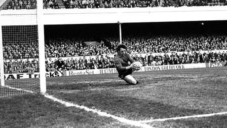 Town goalkeeper Paul Cooper in action during the FA Cup semi-final against West Brom in 1978.