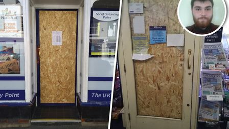 The Martins shop in Saxmundham was broken into on Saturday Picture: NEIL GLASSCOCK