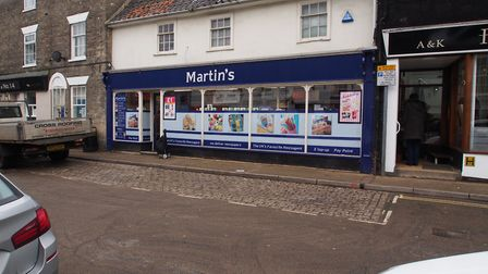 Martin's newsagents in Saxmundham Picture: TOM POTTER