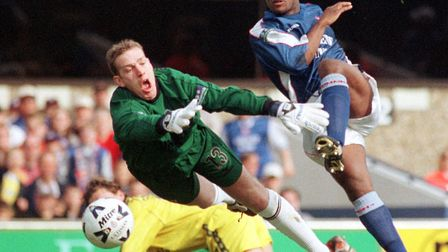 A dive from Port Vale's keeper fails to stop David Johnson scoring for Ipswich Photo: ARCHANT