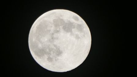 The supermoon was in full view across Suffolk Picture: JULIE HOPPER