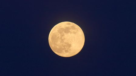 Suffolk's view of the stunning supermoon Picture: JULIE KEMP
