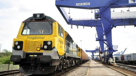 Freight trains continue to move around the country. Picture: LUCY TAYLOR/ARCHANT