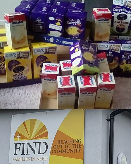 Rosehill playgroup in Ipswich donated its Easter eggs to FIND (Families in Need) Picture: ROSEHILL P