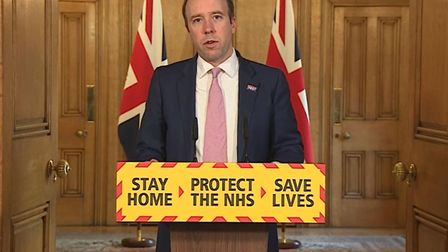 Health secretary Matt Hancock gave the warning on the BBC's Andrew Marr Show. Picture: PA VIDEO/PA W