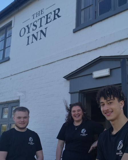 Blaize, Harry & Maisie are helping to bring the Oyster Inn back into the community Picture: JANE PAL