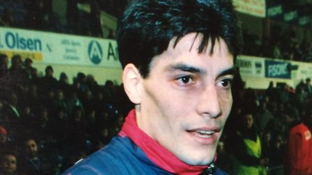 Adrian Paz, his time at Town was not memorable. Photo: ARCHANT