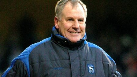 Joe Royle, smiling here, but the Town boss did not see the funny side of a mock-up of him in the Ev